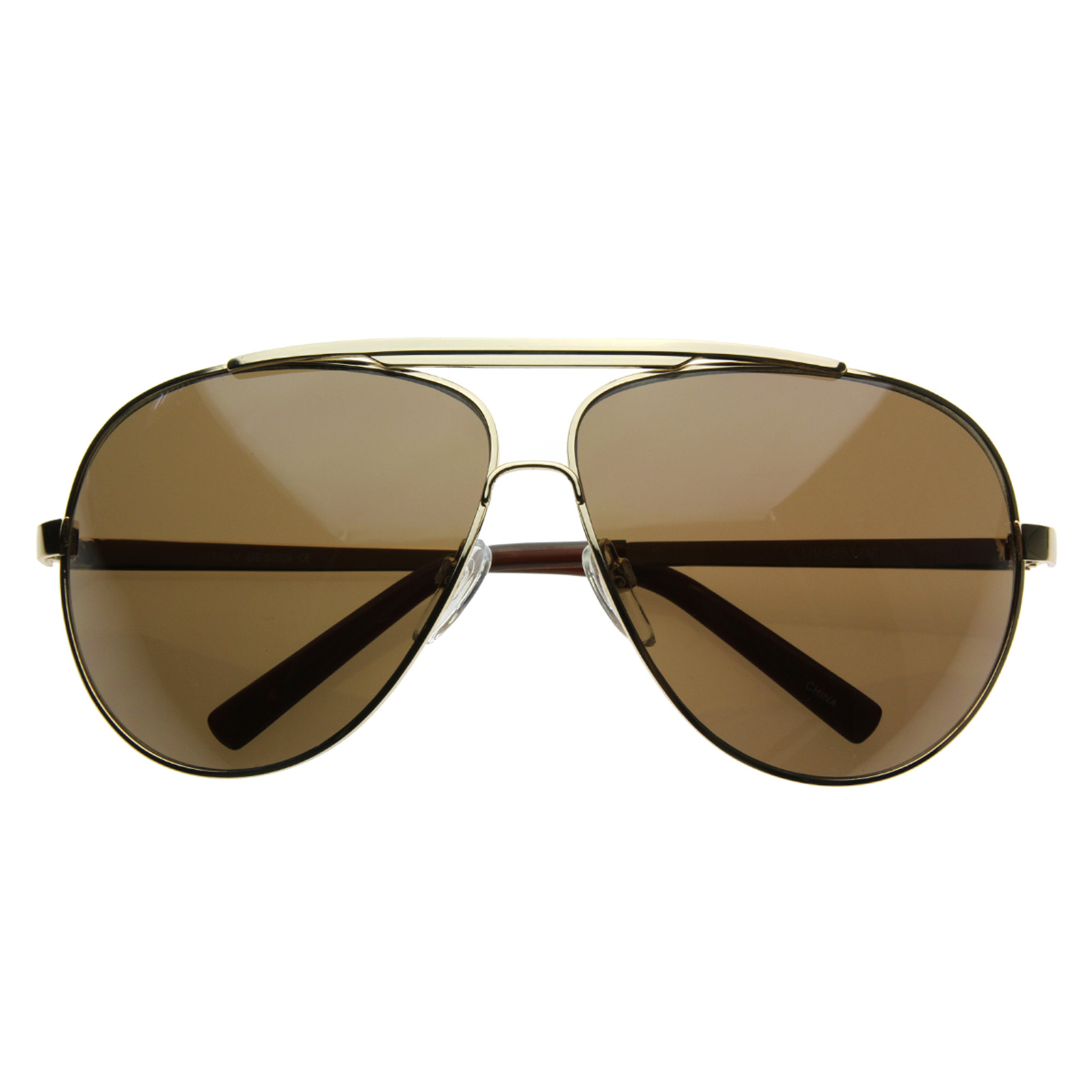 Oversized Gold Frame Sunglasses : Extra Large Full Metal Thin Frame Oversize Mirrored ...