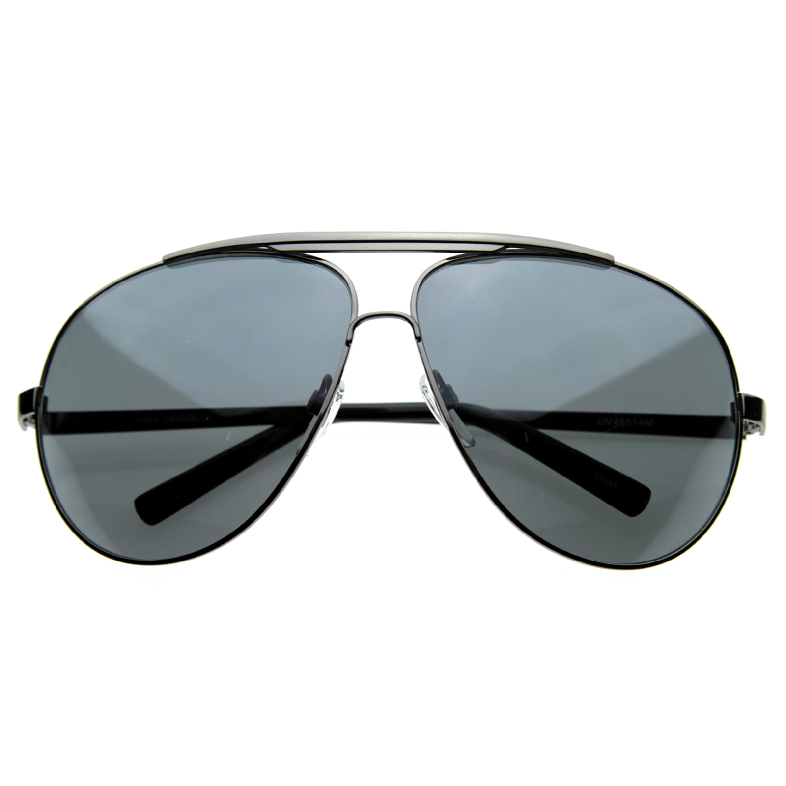 Extra Large Full Metal Thin Frame Oversize Mirrored Aviator Sunglasses