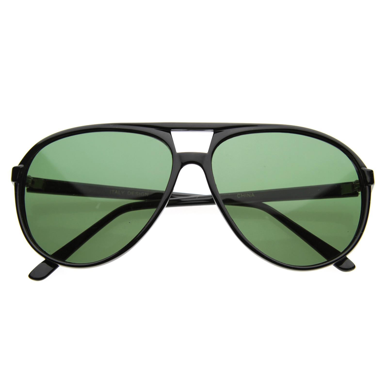 Retro-80s-Plastic-Classic-Teardrop-Aviators-Shades-Sunglasses-2339-Free-Pouch