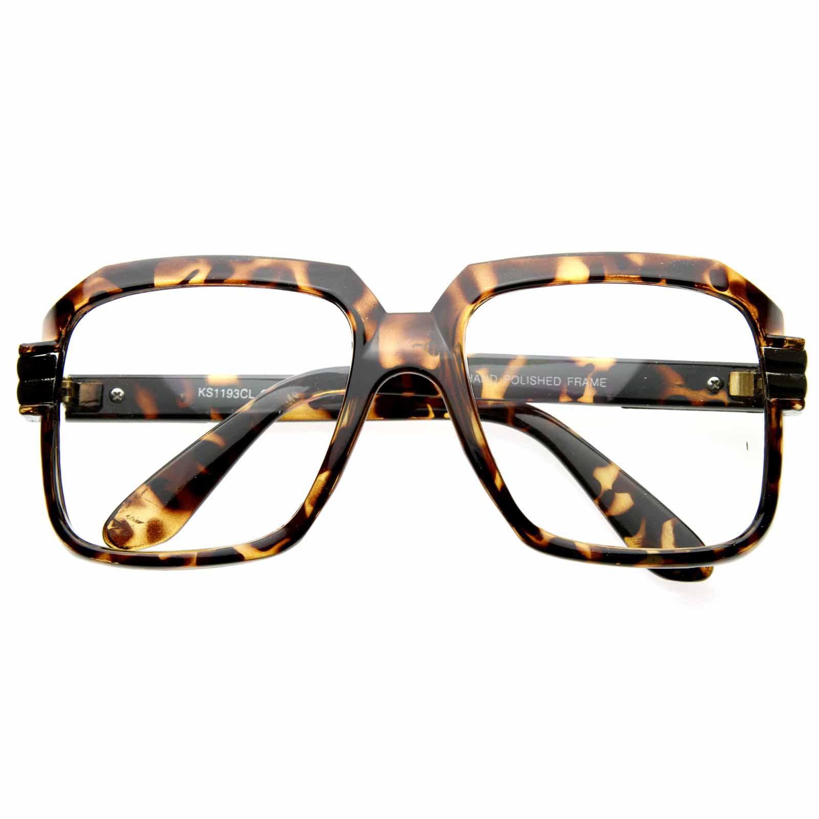 5aca209cb16 Old School Hip Hop Run DMC Style Square Vintage Squared Eyeglasses ...