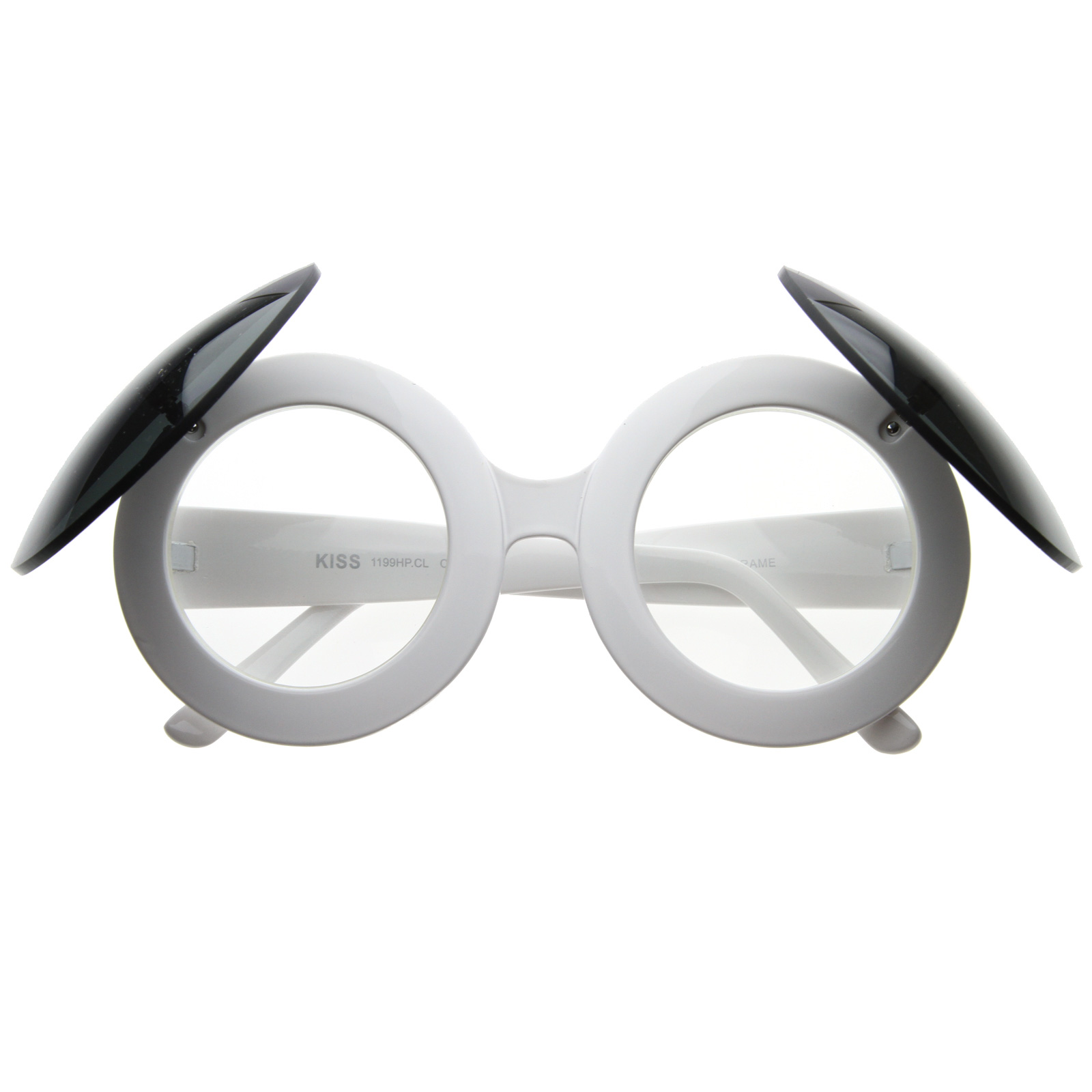 f57e4ab3485 Paparazzi Celebrity Round Circle Flip Up Mickey Clear Glasses 8020 ...