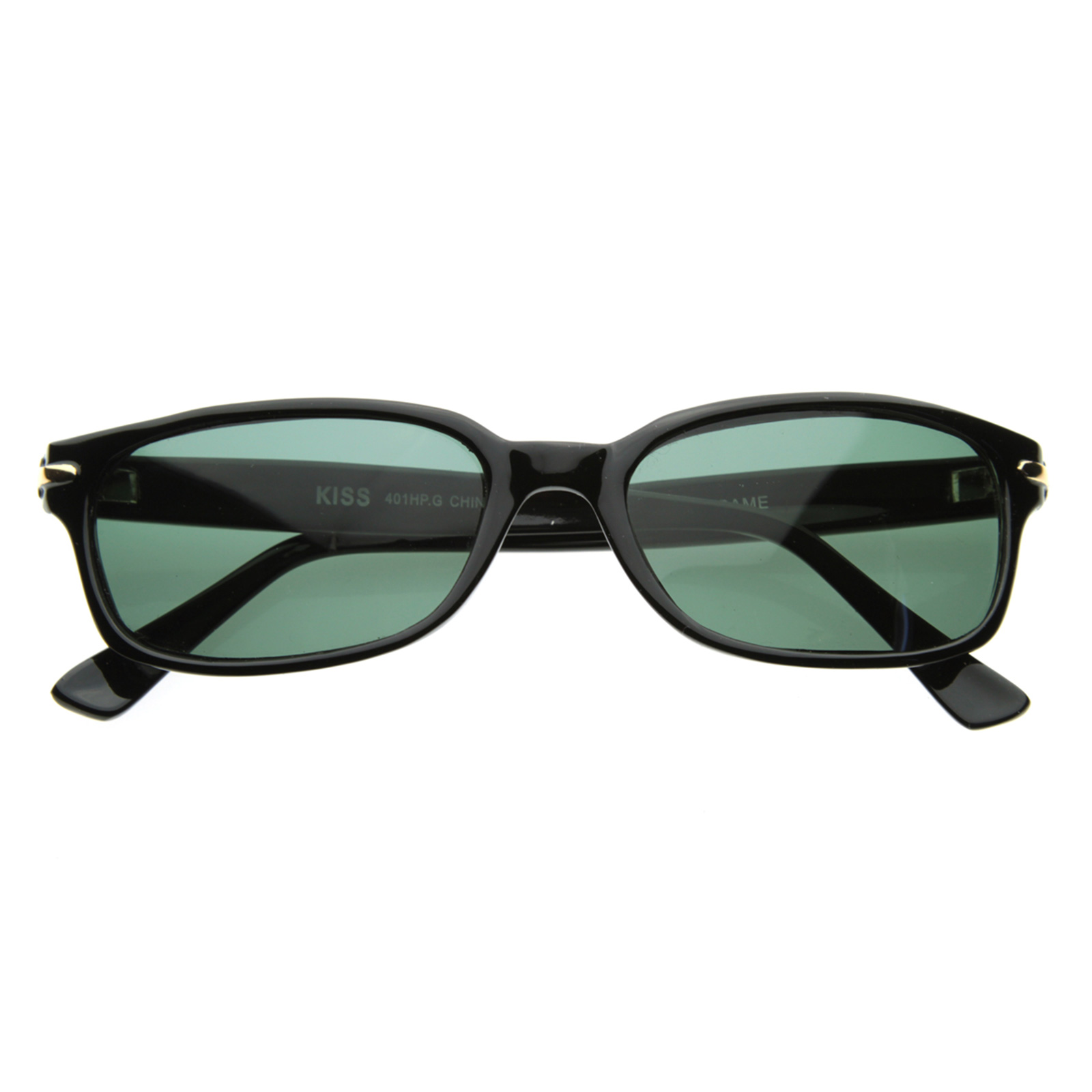 Thin Framed Fashion Glasses : Modified Rectangular Horned Sunglasses eBay