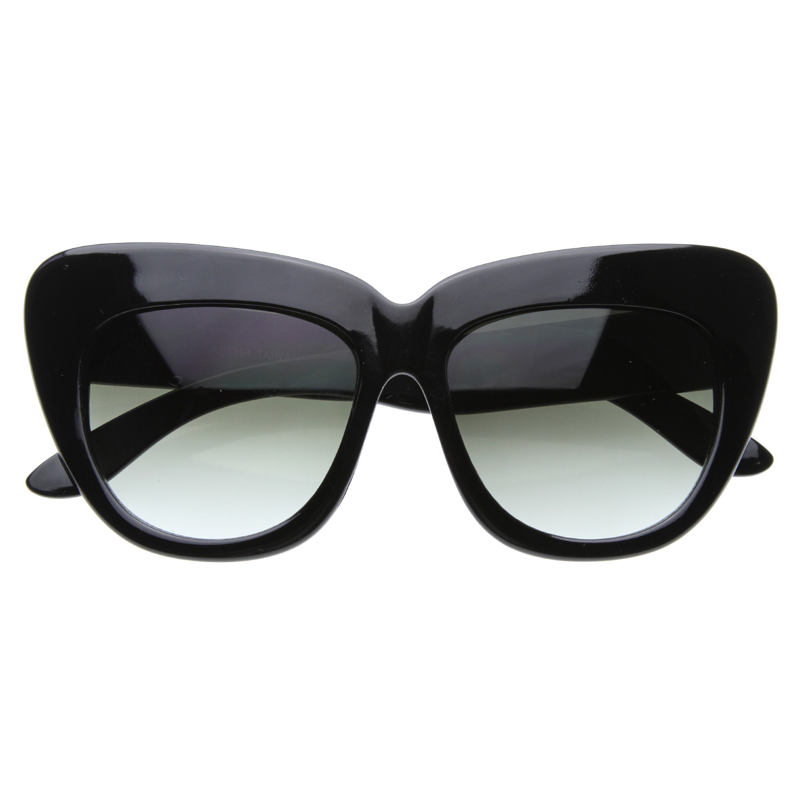 Designer-New-York-Fashion-Week-Womens-Oversize-Cat-Eye-Sunglasses-8300-Pouch