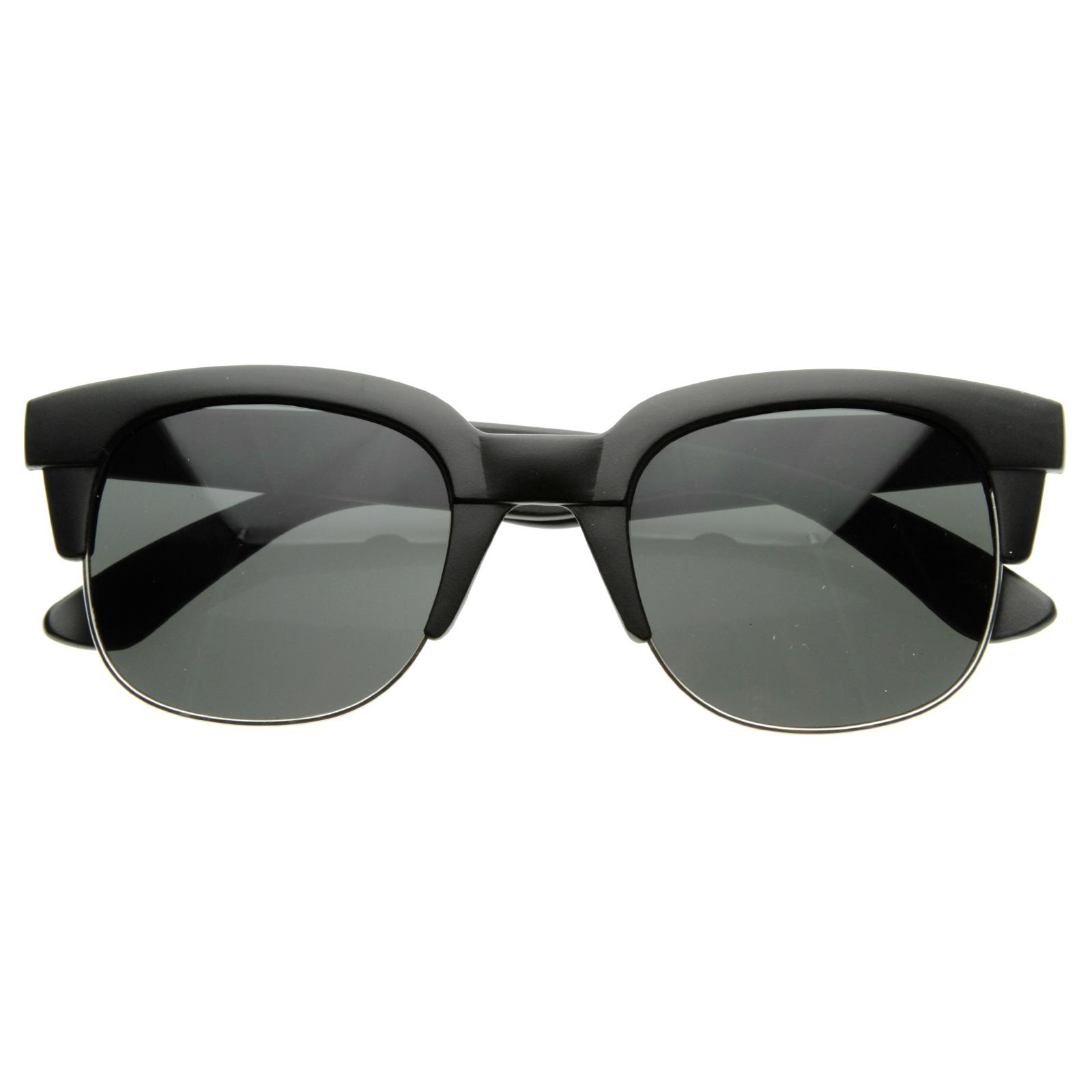 Half Frame Retro Glasses : Super Square Modern Fashion Half Frame Retro Horn Rimmed ...