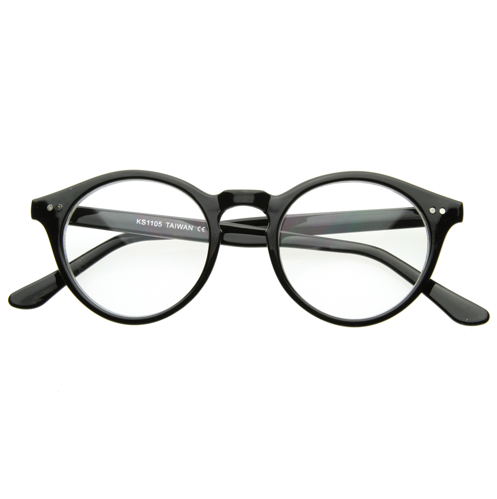 Vintage-Inspired-Spectacles-Clear-Lens-UV400-Small-Circle-Round-Glasses-8403-NEW