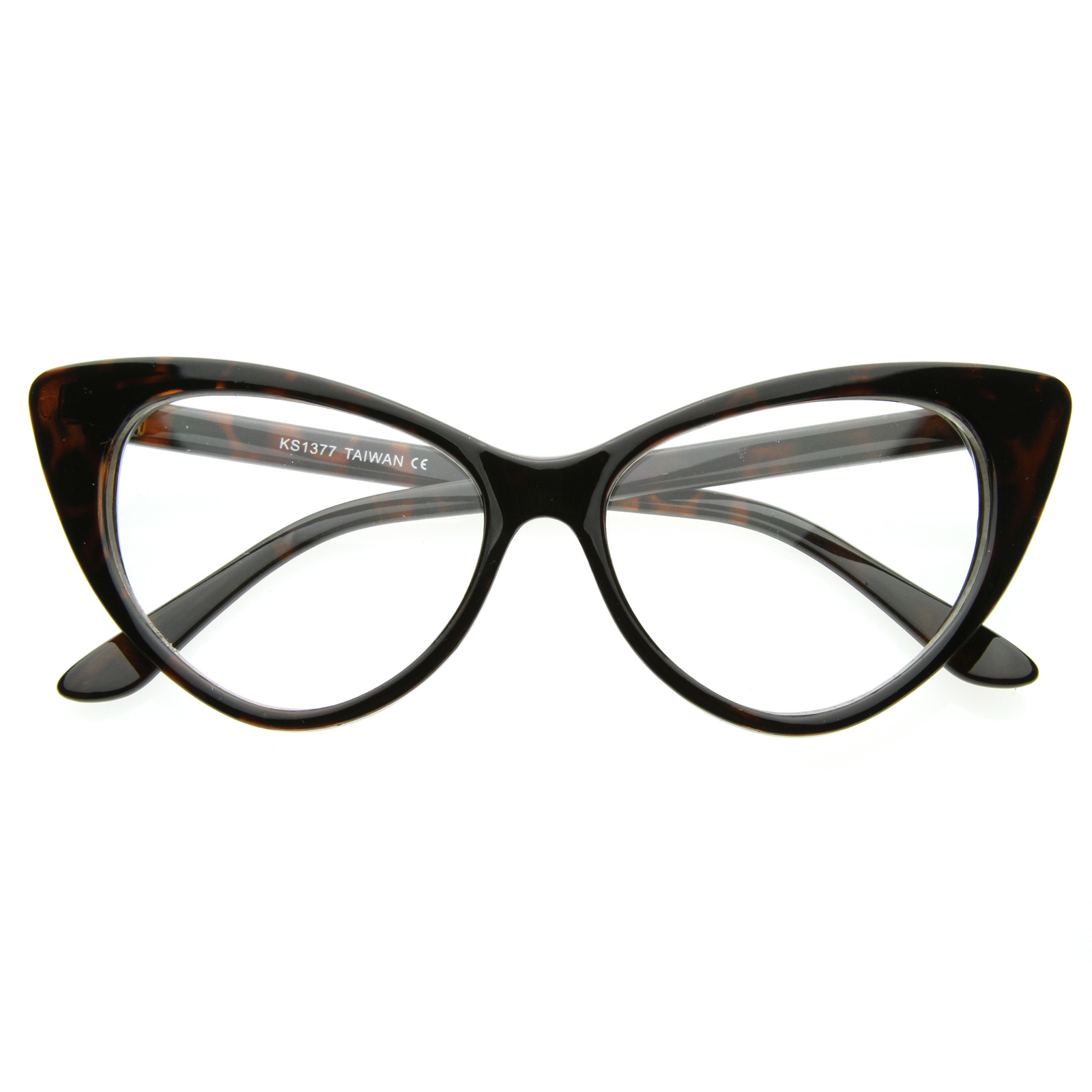 1960s-Vintage-Inspired-Mod-Fashion-Clear-Lens-Super-Cat-Eye-Glasses-Cateye-8435