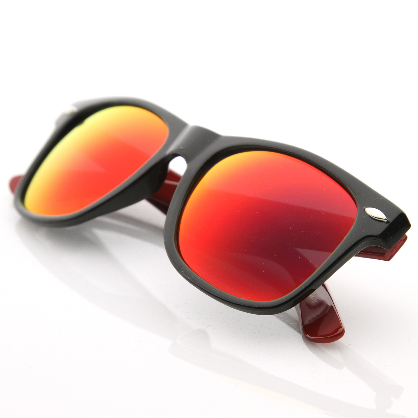 Retro-Intense-Action-Full-Revo-Mirror-Lens-Two-Tone-Color-Shades-Sunglasses-8559