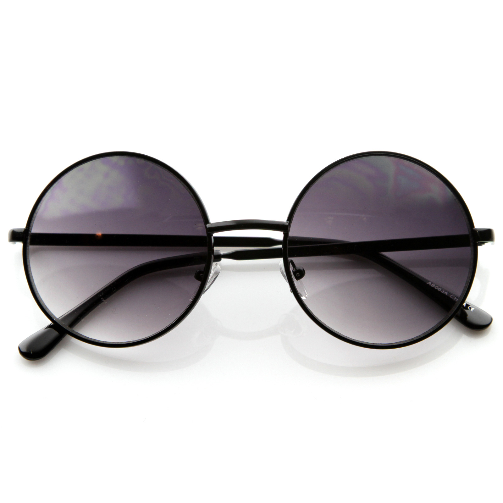 New-Designer-Fashion-Medium-Size-Full-Metal-Round-Circle-Womens-Sunglasses-8570